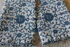 Pretty Pair Ralph Lauren Rosette Blue White Floral Standard Pillowcases B