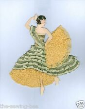 FIESTA Spanish Dancing Lady Ribbon & Lace Paper Doll Pattern