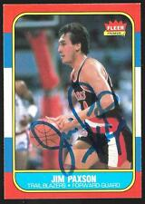 JIM PAXSON 1986-87 FLEER #85 SIGNED AUTOGRAPH TRADING CARD AUTHENTIC