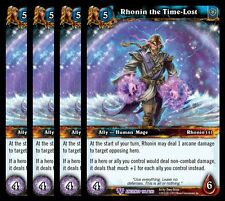 4x Rhonin the Time-Lost War of Ancients Epic 106 World Warcraft WoW TCG Card