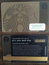 Starbucks 2015 Gold New Siren logo RARE gift card HTF