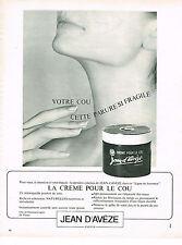 PUBLICITE ADVERTISING 014   1967   JEAN D'AVEZE   cosmétiques