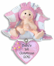 Baby Girl 1st Christmas Personalized Ornament RESIN by Deb & Co.