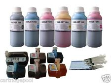 6 Refillable ink set for HP 02 Photosmart C7280 D7260 D7355 D7345 D7360 +6x250ML