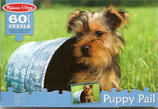 Yorkshire Terrier Yorkie Puppy Pail Jigsaw Puzzle 60 piece Melissa & Doug