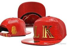 Last kings leather snapback street marque hip hop cuir peau de serpent casquette de baseball