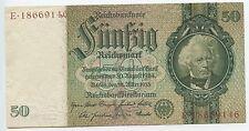 GB055 - Reichsbanknote Deutsches Reich 50 Reichsmark 1933 Pick#182 Erhaltung