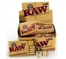 3 x Raw Tips Filters 63 Pre-Rolled Roaches Unrefined Chlorine Free Paper Card