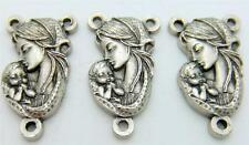 MRT 3 Lot  Madonna & Child Vatican Rosary Centerpiece Silver Plate Italian Gift