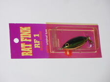 Bagley Rat Fink RF 1 Top Water Fishing Lure Rare Color!! 79G2 Blue/Chart on Gold