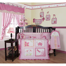 Pink Dragonfly 13-piece Crib Bedding Set