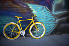 urban single gear fixie Fixed Gear Bike Bicycle F2 Steel Yellow bicycle