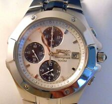 Mint SEIKO Mens Coutura Quartz Chronograph Alarm Watch with Box