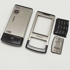 Genuine Full Housing Front Back and Keys Fits Nokia 6500 Slide 6500s Silver