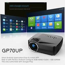 1200 Lumen 1920x1080P Projector Home Cinema Theater wireless HD WIFI Android 4.4