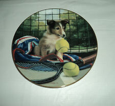 Good Sports - Net Play - by Jim Lamb Dog/ Puppy Collector Plate