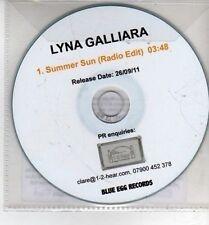 (CH888) Lyna Galliara, Summer Sun - 2011 DJ CD