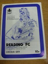 10/04/1976 Reading v Lincoln City  (Light Crease). Thanks for viewing our item.