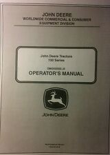 John Deere 100 series Lawn Tractor Owner Manual D 110 120 130 140 150 160 170