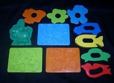 11 VINTAGE PLAY-DOH PLAY DOH FARM ZOO ANIMAL SHAPES MOLD PART PIECE DOUBLE SIDED