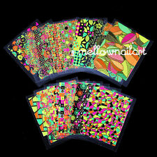 24 Sheets Nail Art Stickers 3D Colorful Leaf Nail Art Charms Manicure Bronzing