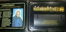Master Replicas Darth Maul  Battle Damaged GOLD Lightsaber .45 Scaled w/ Box