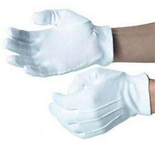 1 PAIR WHITE FORMAL GLOVES TUXEDO HONOR COLOR GUARD PARADE SANTA MENS INSPECTION