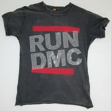 AMPLIFIED RUN DMC Strass Rock Hip Hop Star Vintage Designer ViP WoW T-Shirt S 36