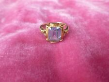 14K GOLD VICTORIAN / EDWARDIAN AQUAMARINE RING WEIGHING .065 TROY OZS