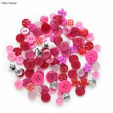 Top Quality Buttons 40 Gram Wood Resin Sewing Red Series Mixed Scrapbook 11-20mm