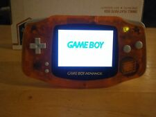 Trans Orange Nintendo GameBoy Advance GBA-001, AGS-101 Backlit Mod, Glass Screen