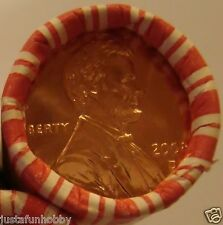 2008-D Lincoln  Memorial Cent, 1 Heads/Tails Penny Roll (B.Unc.) N.F. String