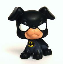 Littlest Pet Shop Chibi Batman OOAK custom figure LPS Super hero Batdog bat dog