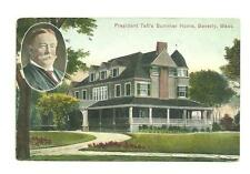 Pre 1915 Used Post Card President Taft's Summer Home Beverly Mass 18999
