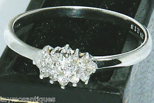 9k Gold 9ct Gold  0.15ct diamond cluster engagement ring size L