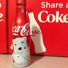 2016 Christmas Polar Bear USA Release Coca-Cola Aluminum Coke Bottle