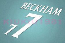 England Beckham #7 EURO 2000 Awaykit Nameset Printing
