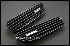 MATTE BLACK SIDE FENDER VENT GRILLE GRILL KIT FOR BMW E46 M3 COUPE 2001-2006