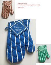 Heat Resistant 100% Cotton Kitchen Oven BBQ Mitt Cooking Baking Pot holder Glove