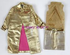 Vtg INTRIGUE #1470 Gold & Pink Barbie Doll Outfit
