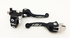 ASV F3 Unbreakabl​e Shorty Black Brake Clutch Lever Pair Pack Hot Start Kawasaki