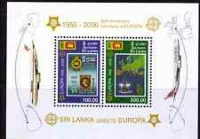 2006 Sri Lanka 50 Years Europa CEPT s/s MNH Scott $16.00
