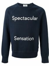 ACNE STUDIOS 'college sweatshirt' spectacular sensation blue white cotton S