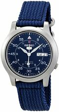 Seiko Men's Seiko 5 Automatic Blue Canvas Strap Watch SNK807