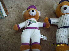 "Stuffed Plush Baseball Bear TAMPA DEVIL RAYS  9.5"" Tall"