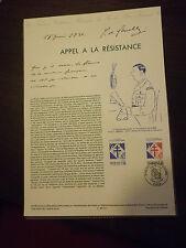 Collection Historique Timbre Poste 1er Jour : 17/06/90 - appel a la résistance