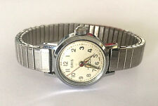 VINTAGE ORIS WRIST WATCH SWISS MADE ANTISHOCK 7 JEWELS WIND UP SILVER TONE RUNS!