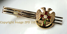 ZP304 Masonic Tie Pin Bar Knights Templar White Rose Croix Eagle Freemason