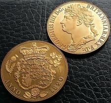 UK Great Britain 1820 Retro Pattern Proof Crown Golden Alloy  George IV Coin
