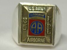 STERLING SILVER  US ARMY AIRBORNE 82 ND DIVISION RING ,SIZE 9,25 NEW OLD STOCK